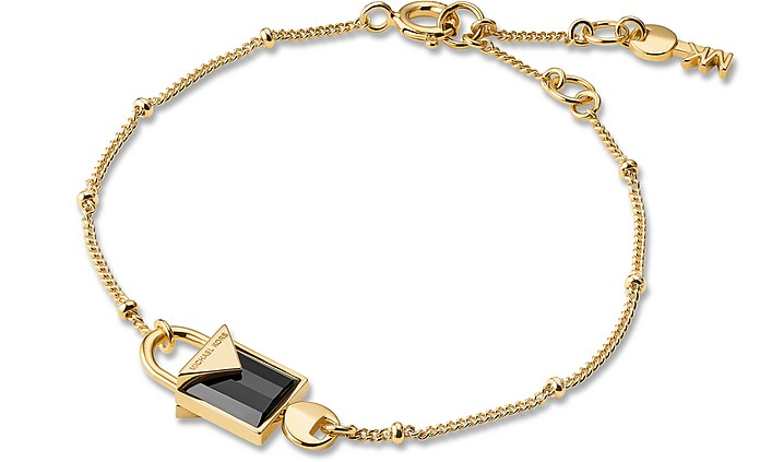 Mercer 14K Gold Plated Sterling Silver Lock Bracelet - Michael Kors