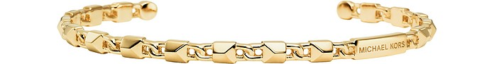 Mercer Link 14K Gold Plated Cuff Women's Bracelet - Michael Kors