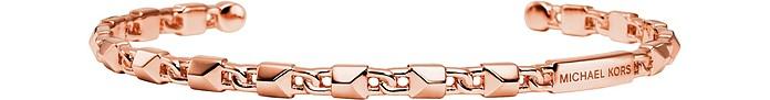 Mercer Link 14K Rose Gold Plated Sterling Silver Cuff - Michael Kors