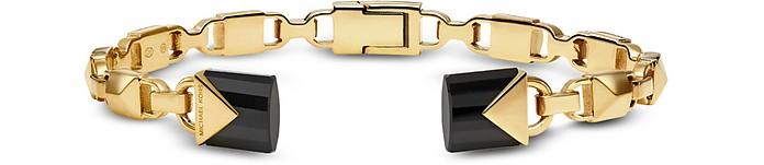 Mercer 14K Gold-Plated Open Hinge Bangle - Michael Kors