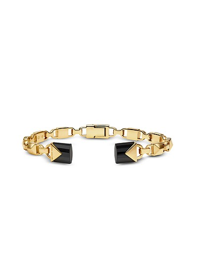Mercer 14K Gold-Plated Open Hinge Bangle - Michael Kors