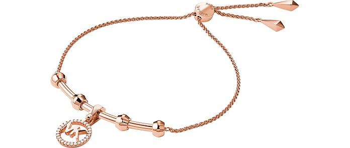 Precious Metal Rose Gold Plated Sterling Slider Bracelet - Michael Kors