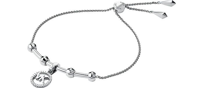 Precious Metal Rhodium Plated Sterling Slider Bracelet - Michael Kors