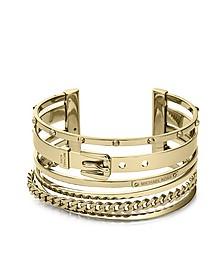 Heritage Gold Tone Mixed-Shape Cuff