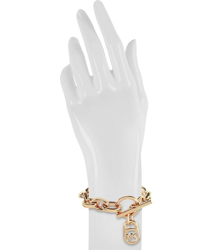0a1b82e3618a0 Heritage Rose Gold-tone Logo-Lock Charm Women s Bracelet - Michael Kors.  Sold Out