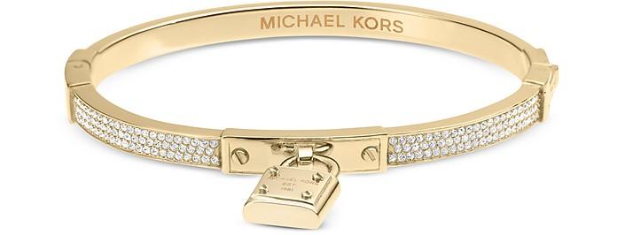 Brilliance Braccialetto in Metallo con Cristalli e Logo - Michael Kors