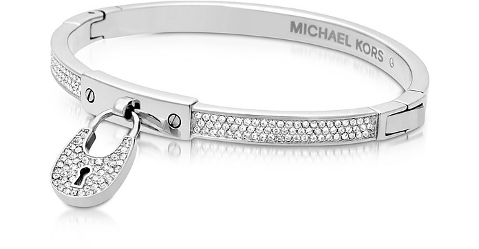 Chains & Elements Metal Bangle w/Crystals - Michael Kors
