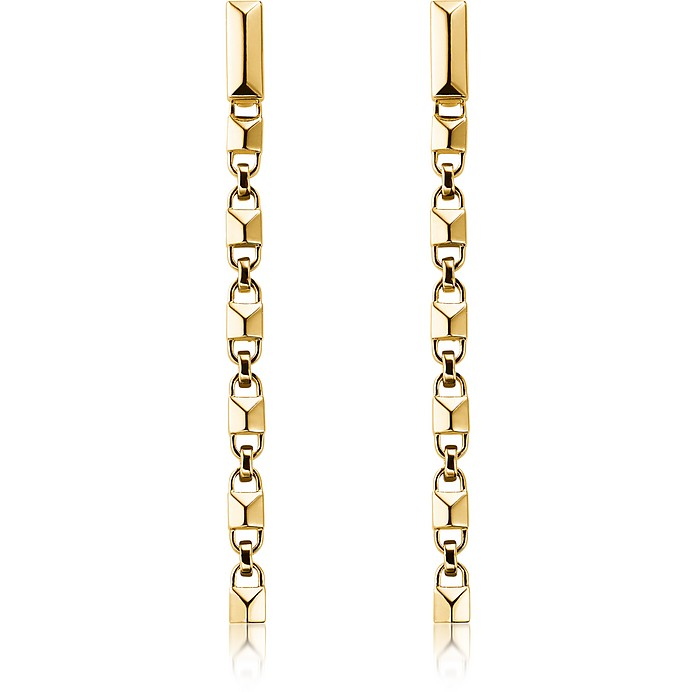 Mercer Link 14K Gold Plated Sterling Silver Linear Earrings - Michael Kors