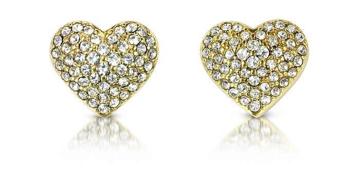 Pave Heart Earrings - Michael Kors