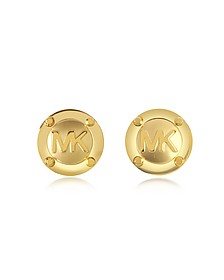 Heritage Signature Golden Stud Earrings