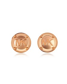 Heritage MK Logo Stud Earrings - Michael Kors
