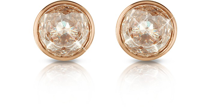 Crystal Rose Gold-tone Stud Earrings - Michael Kors