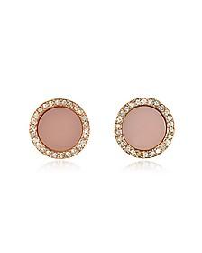 Heritage Rose Gold Stud Earrings w/Crystals - Michael Kors