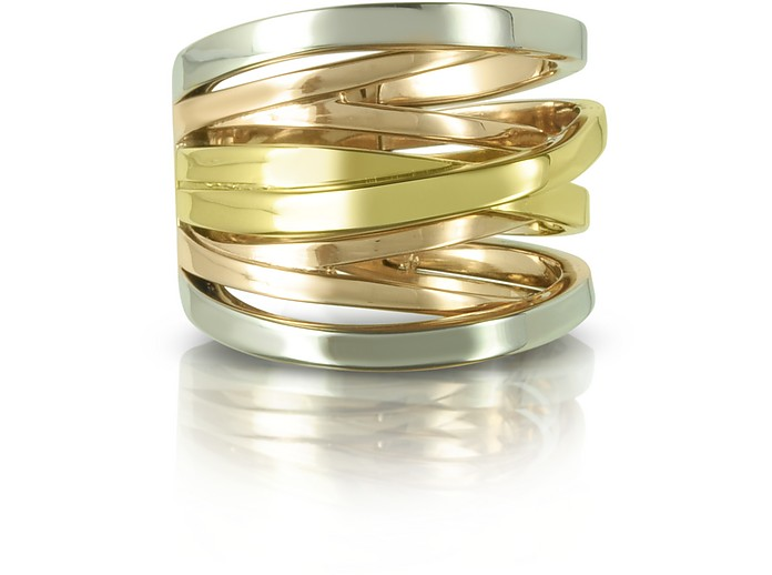Yellow, Rose Gold and Silver Eternity Ring - Michael Kors