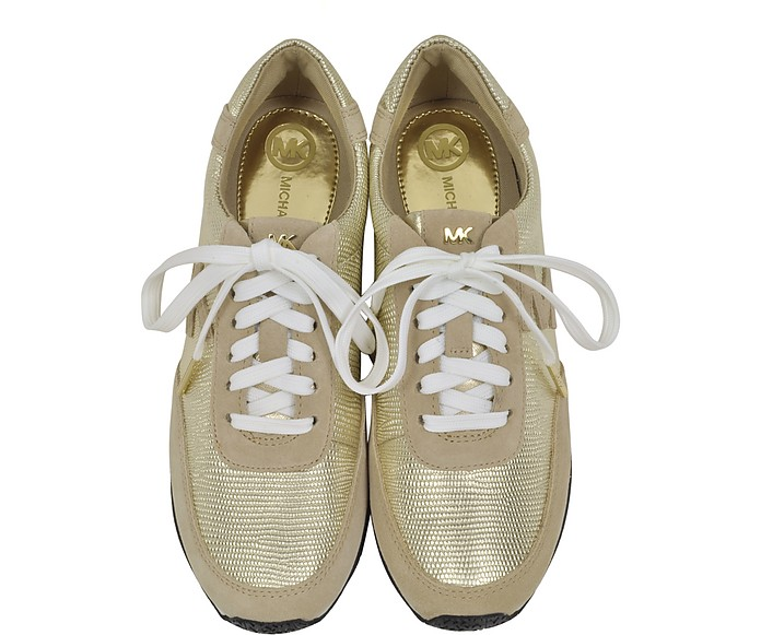 2873ab2b6736 Stanton Leather and Suede Gold Sneaker - Michael Kors.  120.00 Actual  transaction amount