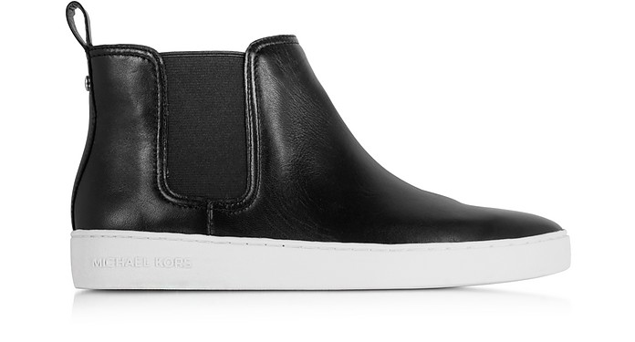 Keaton Black Leather Bootie  - Michael Kors