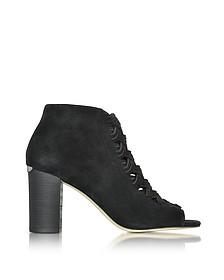 Westley Peep-Toe Suede Ankle Boot - Michael Kors