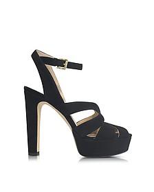 Winona Black Suede High Heel Sandals - Michael Kors