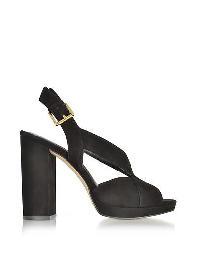 Becky Black Suede Platform Sandals - Michael Kors