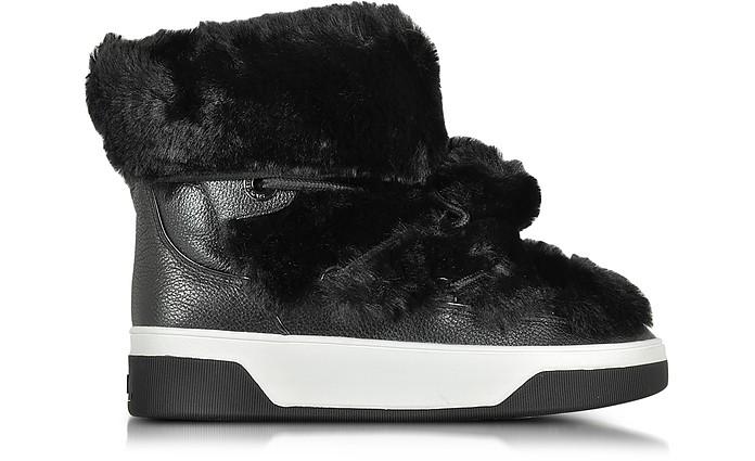Nala Fur and Calf Hair High-Top Sneaker/Boot - Michael Kors