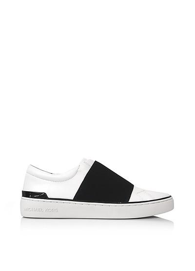 Vaughn Optic White Leather Slip On Sneakers - Michael Kors
