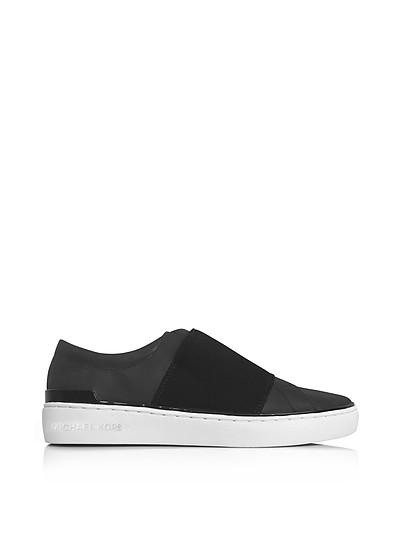 Vaughn Black Leather Slip On Sneakers - Michael Kors