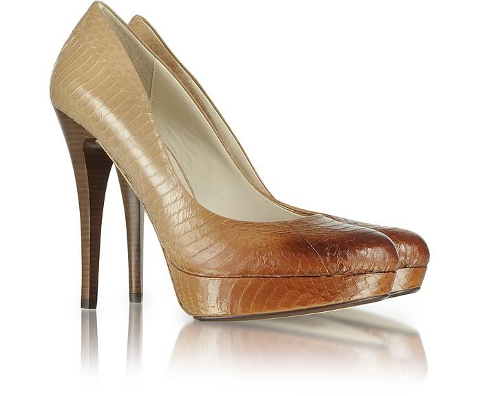 KORS Cyprien - Туфли-Лодочки на Платформе из Натуральной Змеиной Кожи - Michael Kors