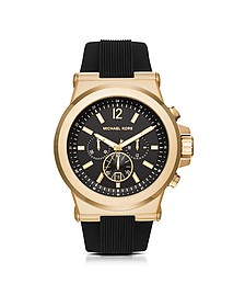 Dylan Golden Stainless Steel Men's Chronograph Watch w/Rubber Strap - Michael Kors