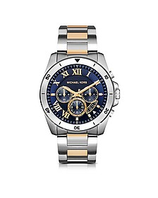 Brecken Two-tone Stainless Steel Men's Chronograph Watch - Michael Kors
