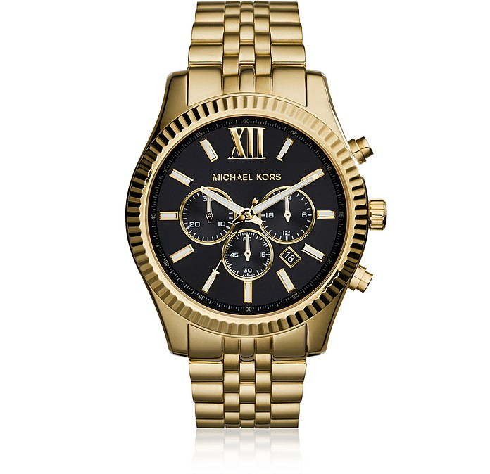 Lexington Gold Tone Chronograph Men's Watch - Michael Kors