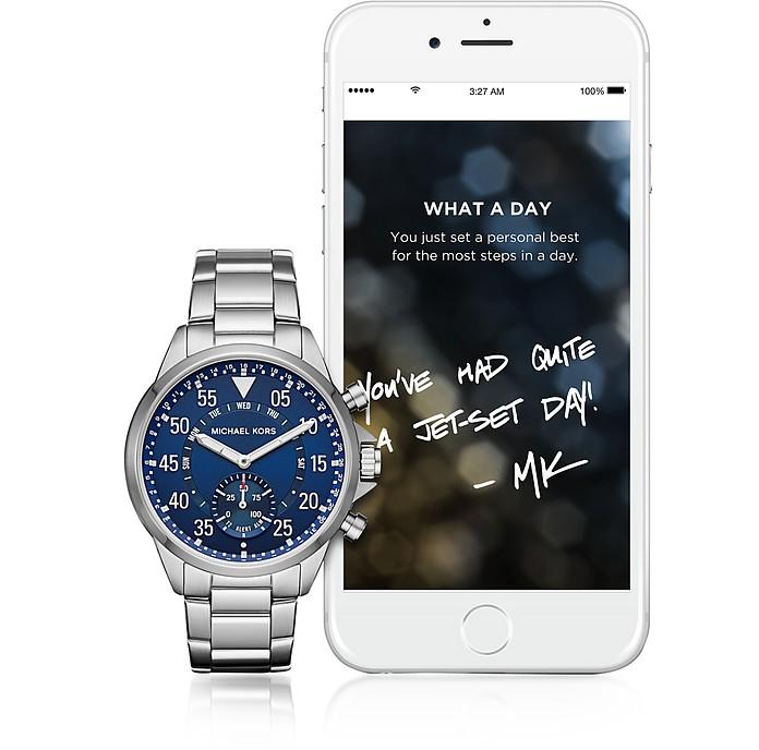 1bdd2d9d7939 Michael Kors Gage Access Silver Tone Hybrid Men s Smartwatch - FORZIERI