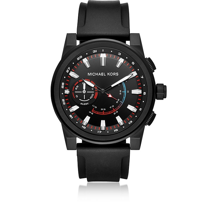 Grayson Access Black Tone and Silicone Hybrid Men's Smartwatch - Michael Kors