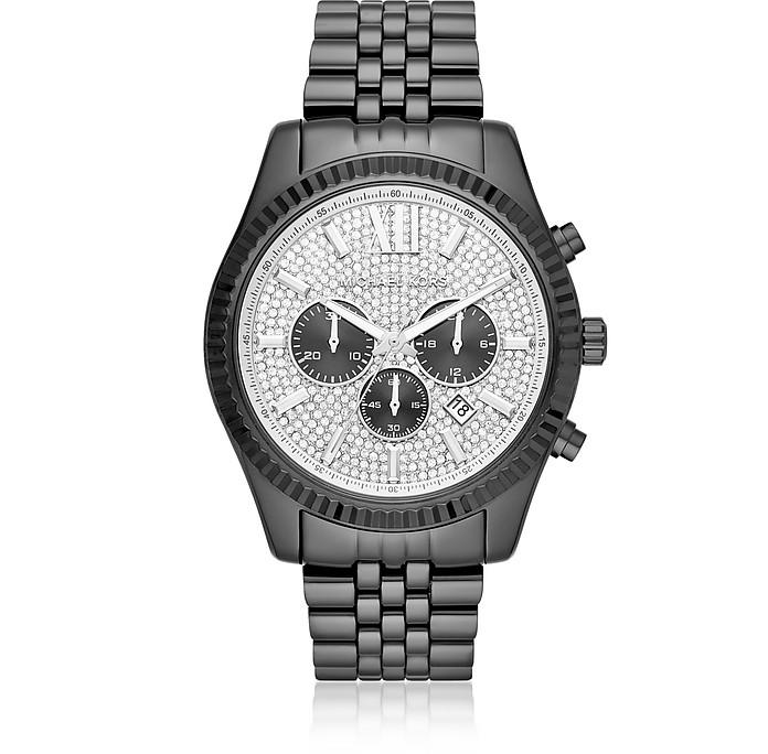 Michael Kors Men's Lexington Black IP Watch - Michael Kors