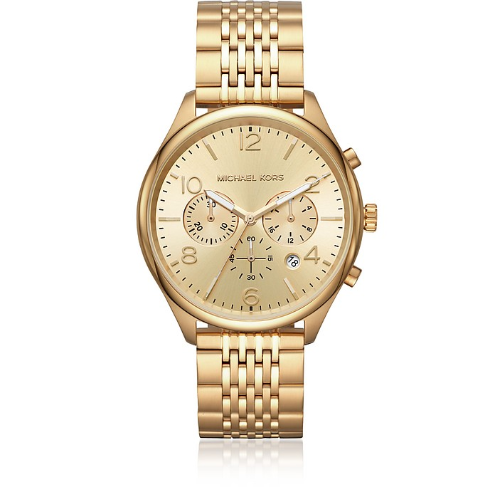 Merrick Gold Tone Chronograph Watch - Michael Kors