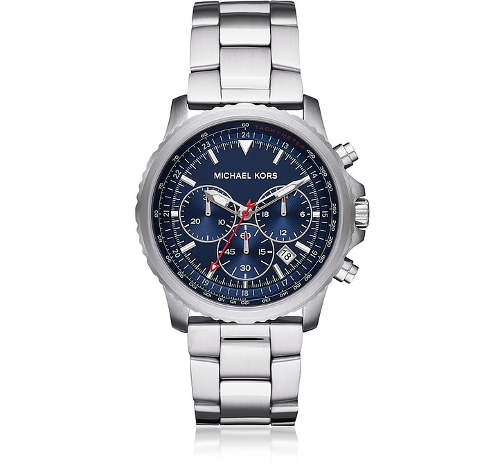 Theroux Stainless Steel Chronograph Watch - Michael Kors
