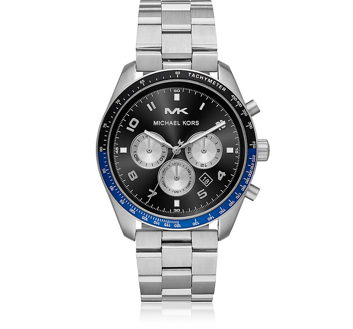 Oversized Keaton Silver-Tone Watch - Michael Kors