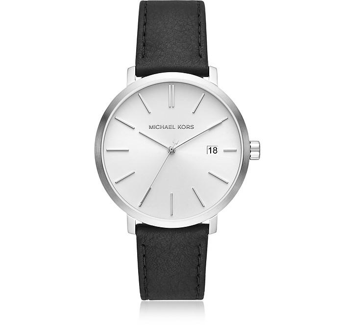 Blake Black Leather Watch - Michael Kors