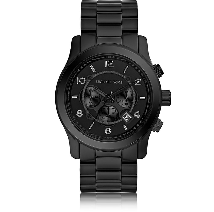 Runway Black Stainless Steel Men's Chrono Watch - Michael Kors
