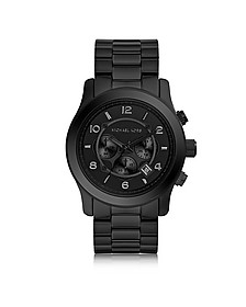Runway Black Stainless Steel Men's Chrono Watch