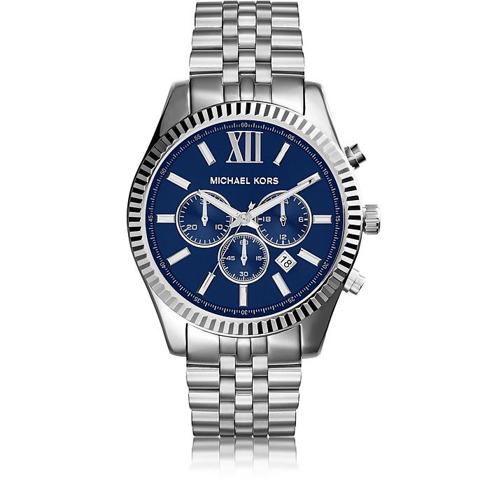 3440231d2e5f Lexington Silver Tone Stainless Steel Men s Chrono Watch - Michael Kors