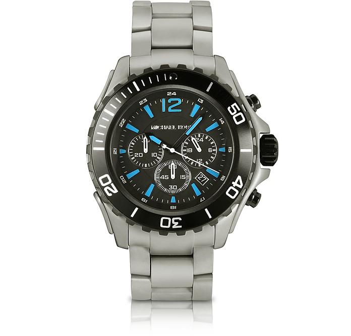 Drake Gunmetal Titanium Chronograph Watch - Michael Kors