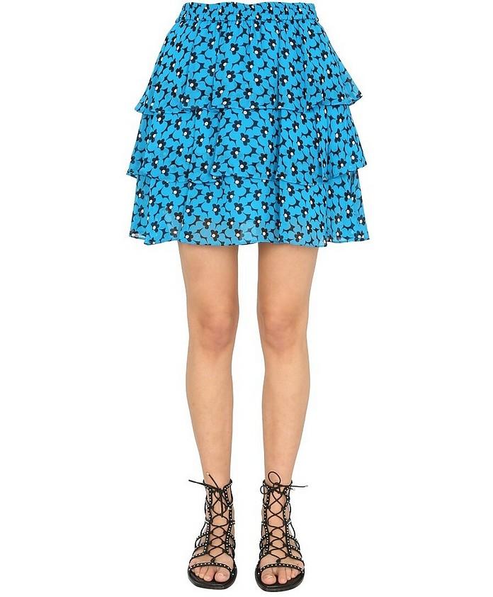 Mini Skirt With Flounces - Michael Kors