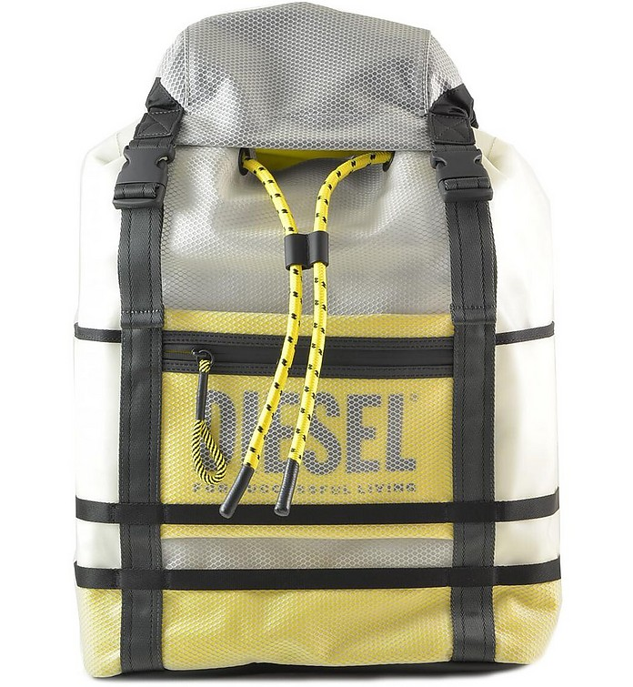 White, Black and Yellow Men's Backpack - Diesel