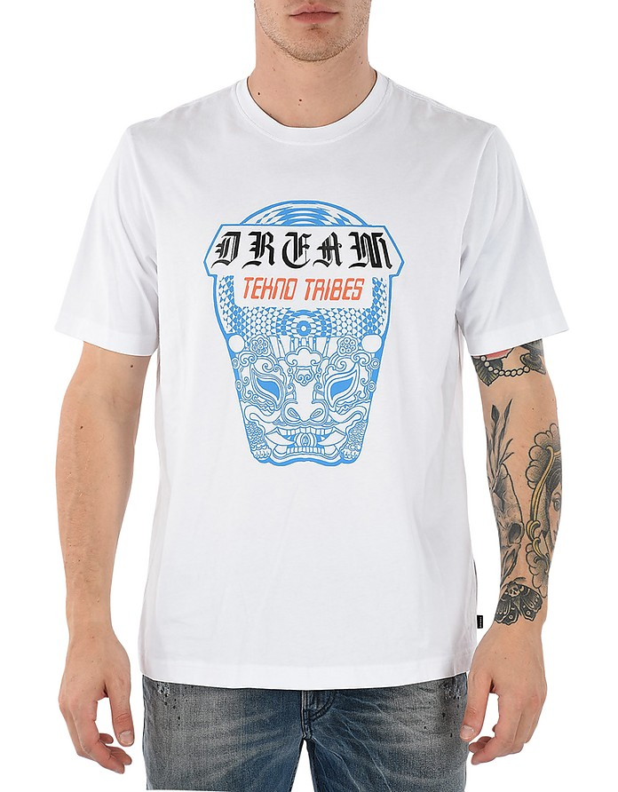 T-Just-Wn White Cotton T-Shirt - Diesel