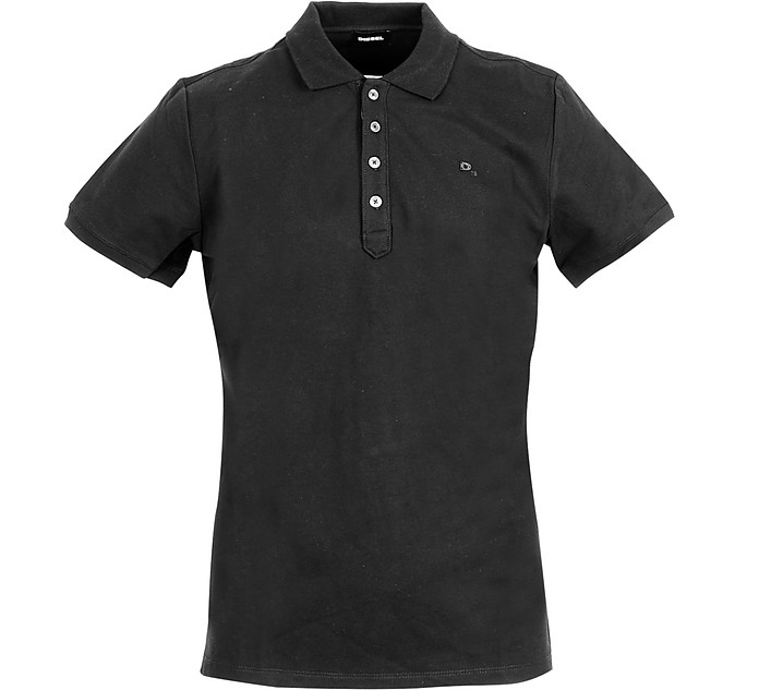 Black Cotton Men's polo Shirt - Diesel
