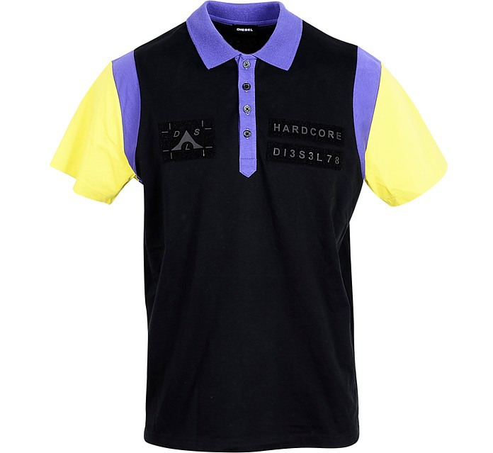 Color Block Cotton Men's polo Shirt - Diesel