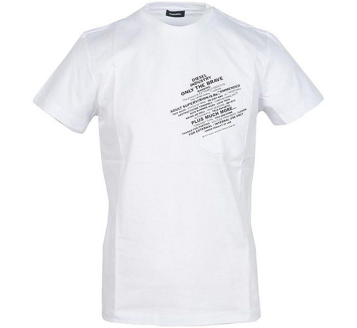 Men's White T-Shirt - Diesel / ディーゼル