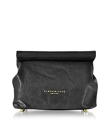 S809 Black Leather 20 cm Lunch bag - Simon Miller