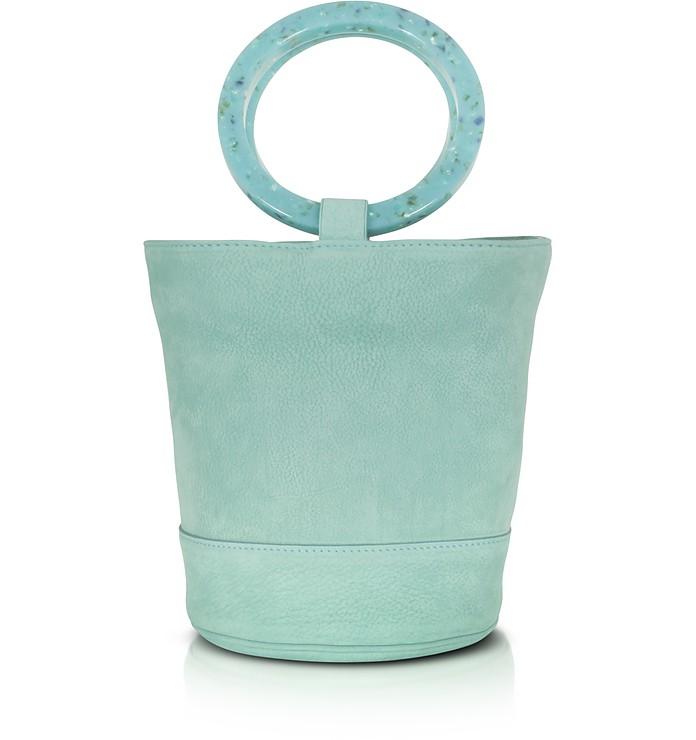 S804 Bonsai Bag 20 cm in Nabuk Verde Acqua Simon Miller qYbrAXmh