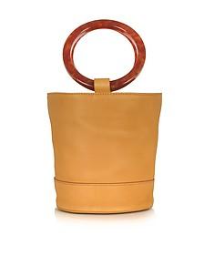 S804 Sand Pony Leather Bonsai 20 cm Bag - Simon Miller